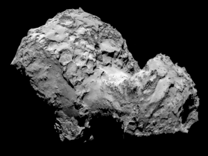 Comet 67P/Churyumov-Gerasimenko on 3 August 2014.