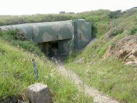 German gun emplacement on the north shore of Guernsey.