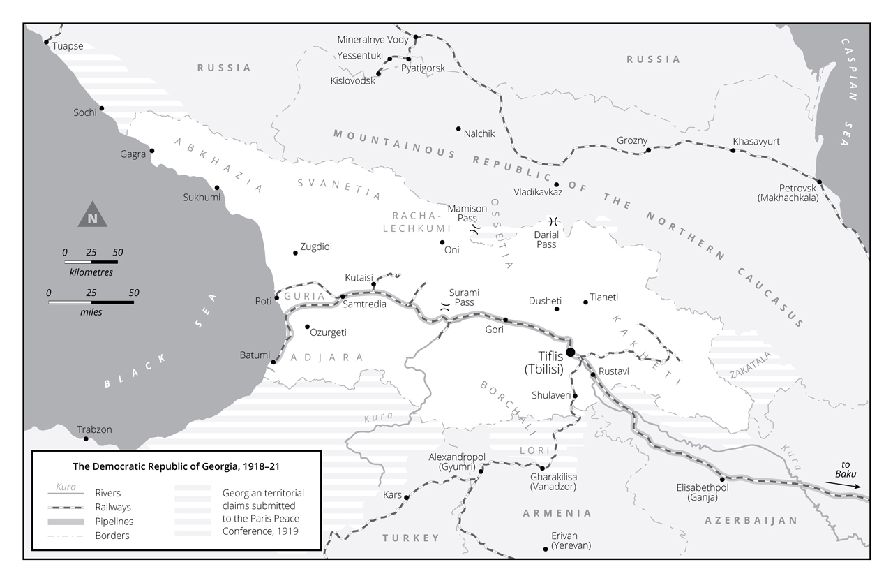 Map Republic Of Georgia.The Experiment Georgia S Forgotten Revolution 1918 1921